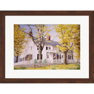 The Picket Fence Framed Print Wall Art