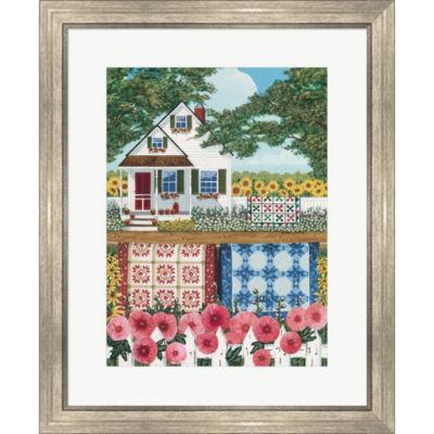 Metaverse Art The Quilt Garden Framed Print Wall Art