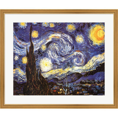 The Starry Night  C 1889 Framed Print Wall Art