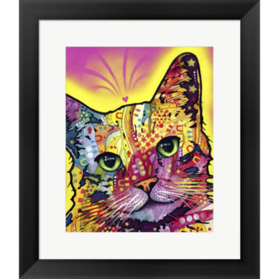 Metaverse Art Tilt Cat Framed Print Wall Art