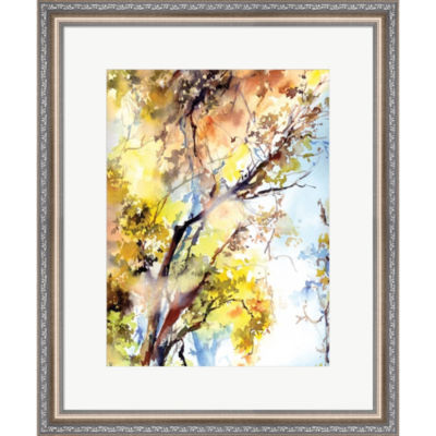Metaverse Art Trees Framed Print Wall Art