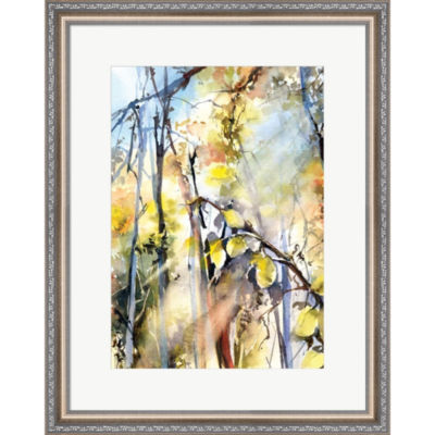 Metaverse Art Trees II Framed Print Wall Art