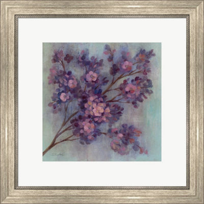 Metaverse Art Twilight Cherry Blossoms I Framed Print Wall Art