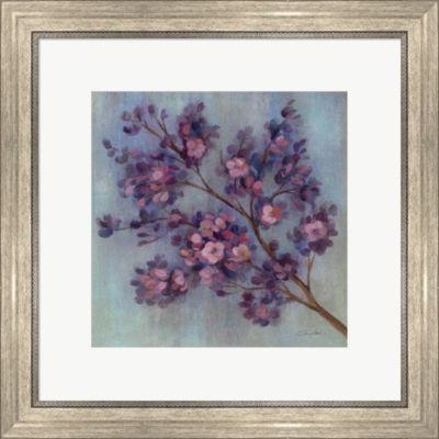 Metaverse Art Twilight Cherry Blossoms II Framed Print Wall Art