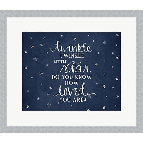 Twinkle Little Star Framed Print Wall Art