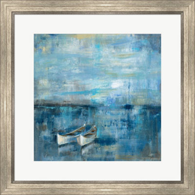 Metaverse Art Two Boats Framed Print Wall Art