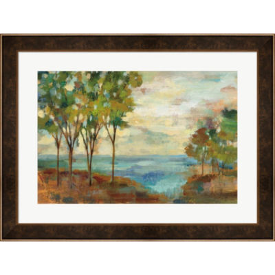 Metaverse Art View Of The Lake Framed Print Wall Art