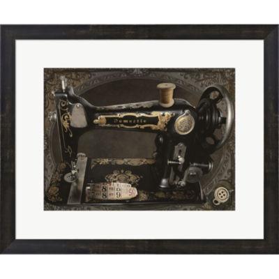 Metaverse Art Vintage Sewing Machine Framed PrintWall Art