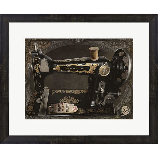 Metaverse Art Vintage Sewing Machine Framed PrintWall Art