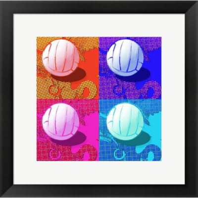 Metaverse Art Volleyball Pop Framed Print Wall Art