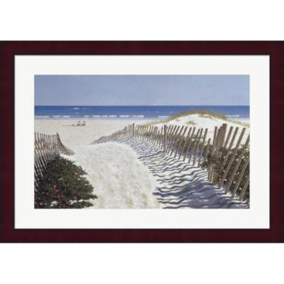 Metaverse Art Walk To The Beach Framed Print WallArt