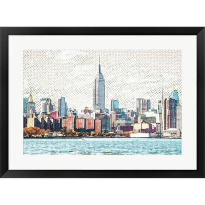 Metaverse Art Warmer Tone Framed Print Wall Art