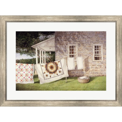 Metaverse Art Wash Day Framed Print Wall Art