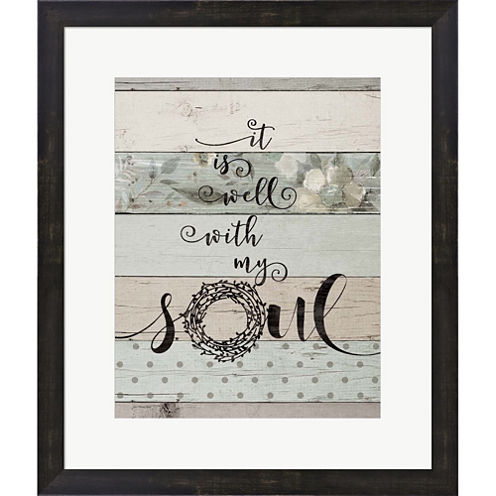 Well With My Soul Framed Print Wall Art