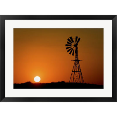 Metaverse Art Windmill 2 Framed Print Wall Art