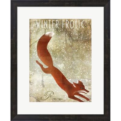 Metaverse Art Winter Game One Framed Print Wall Art