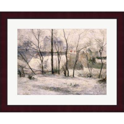 Metaverse Art Winter Landscape 1879 Framed Print Wall Art