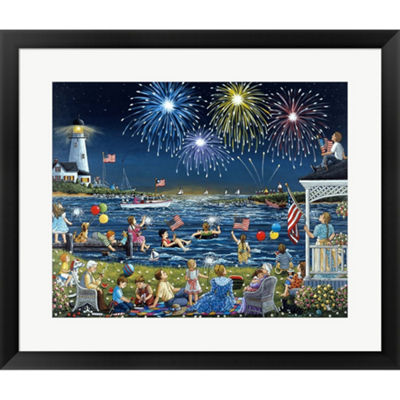 Metaverse Art Seaside On The Fourth Framed Print Wall Art