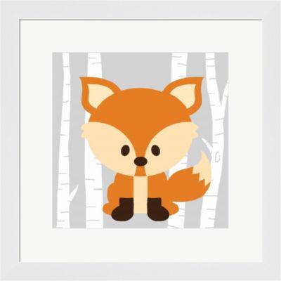 Metaverse Art Woodland Fox Framed Print Wall Art
