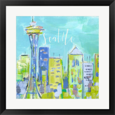 Metaverse Art Seattle Framed Print Wall Art
