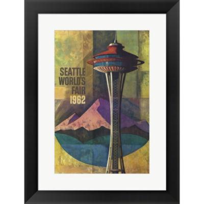 Metaverse Art Seattle World's Fair 1962 II FramedPrint Wall Art