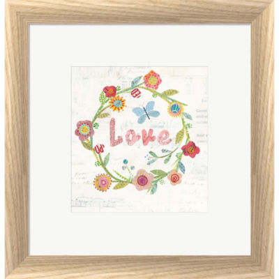Wreath Inspiration I Framed Print Wall Art