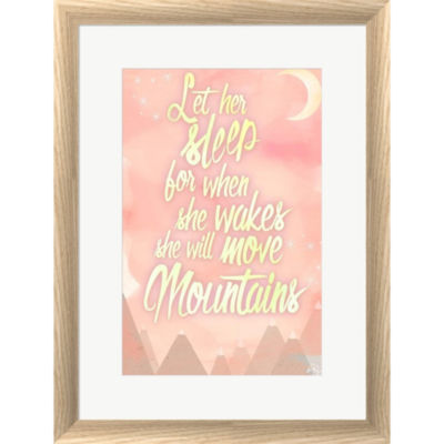 Metaverse Art She Will Move Mountains 1 Framed Print Wall Art