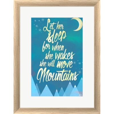 Metaverse Art She Will Move Mountains 2 Framed Print Wall Art