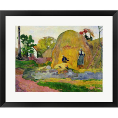 Metaverse Art Yellow Haystacks 1889 Framed Print Wall Art