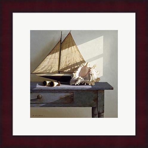 Shell & Sail Framed Print Wall Art