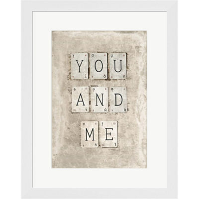 Metaverse Art You And Me Framed Print Wall Art