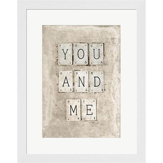 Metaverse Art You And Me Framed Print Wall Art