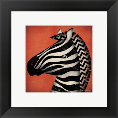 Metaverse Art Zebra Wow Framed Print Wall Art