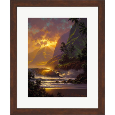 Metaverse Art Spill Of The Evening Light Framed Print Wall Art