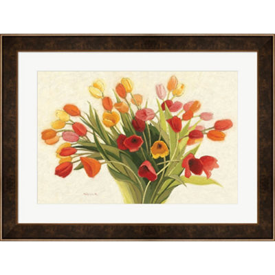 Metaverse Art Spring Tulips Framed Print Wall Art