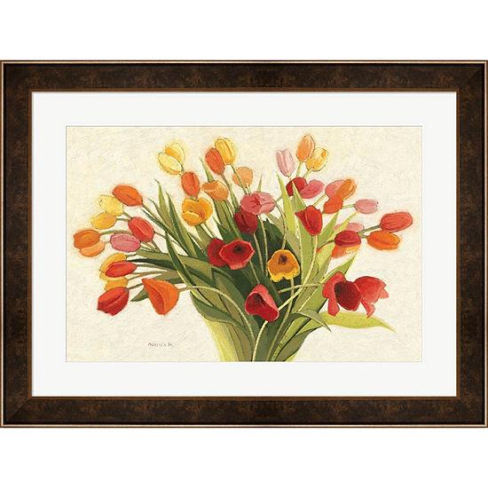 Metaverse Art Spring Tulips Framed Print Wall Art