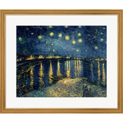 Metaverse Art Starry Night Over The Rhone C.1888 Framed Print Wall Art