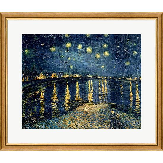 Metaverse Art Starry Night Over The Rhone C.1888 Framed Print Wall Art