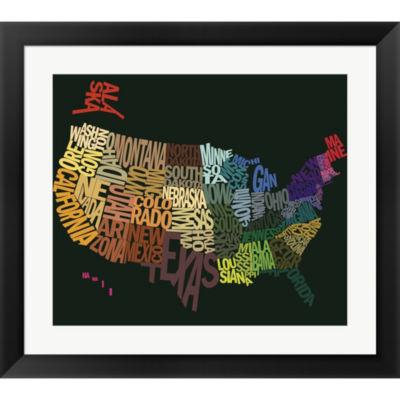 Metaverse Art States Of Text Framed Print Wall Art