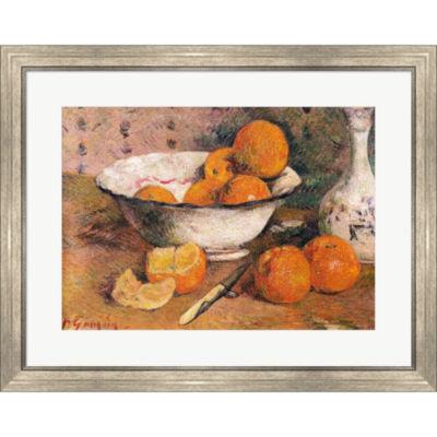 Metaverse Art Still Life With Oranges 1881.5 Framed Print Wall Art