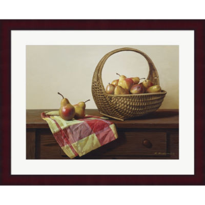 Metaverse Art Still Life With Pears Framed Print Wall Art