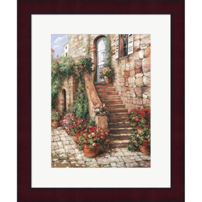 Metaverse Art Stone Stairway Perugia Framed PrintWall Art