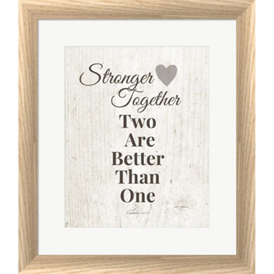 Metaverse Art Stronger Together Framed Print WallArt