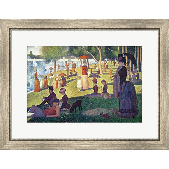 Metaverse Art Sunday Afternoon On The Island Of LaGrande Jatte Framed Print Wall Art