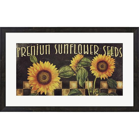 Metaverse Art Sunflowers Framed Print Wall Art