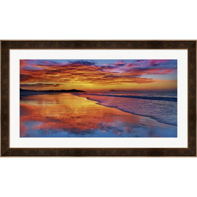 Metaverse Art Sunset North Island New Zealand Framed Print Wall Art