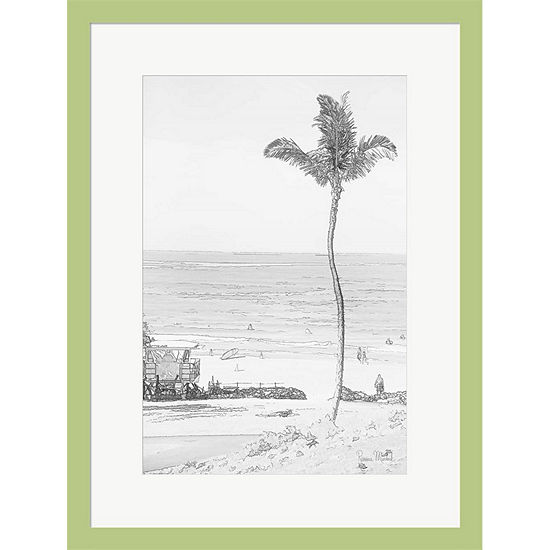 Metaverse Art Swaying Palm II Framed Print Wall Art