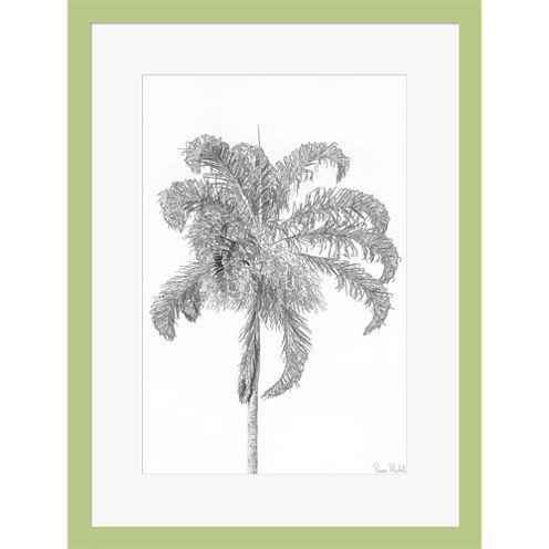 Swaying Palm III Framed Print Wall Art