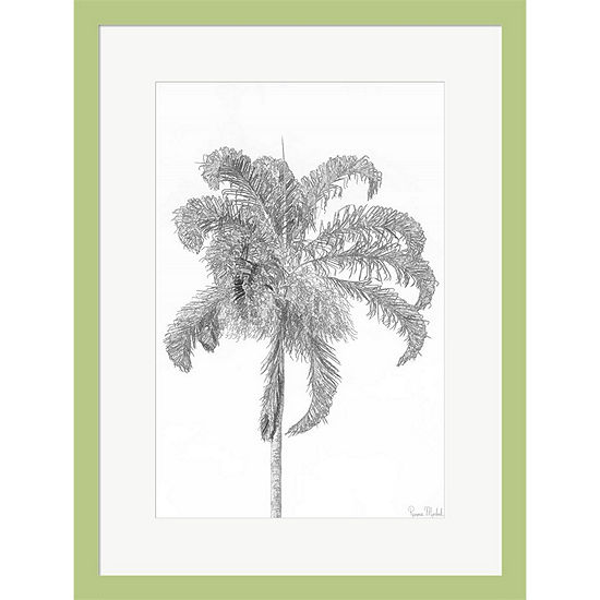 Metaverse Art Swaying Palm Iii Framed Print Wall Art