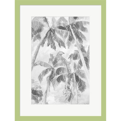 Metaverse Art Swaying Palms IV Framed Print Wall Art